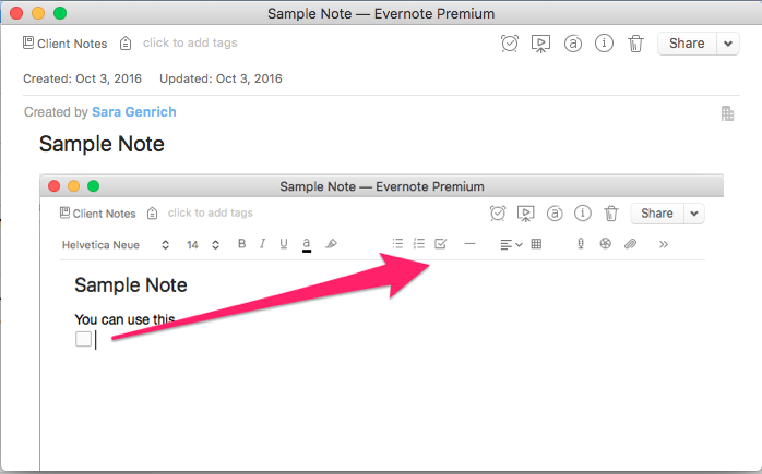 Evernote and TaskClone